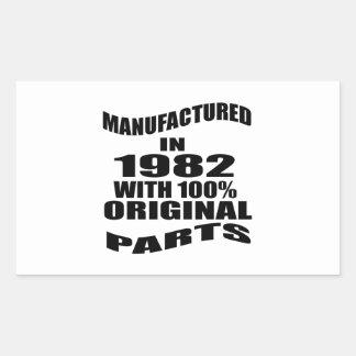 Tillverkat i 1982 med 100% originaldelar rektangulärt klistermärke