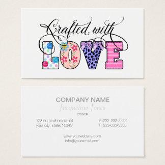 Tillverkat med kärleksvart skriva ID193 Visitkort