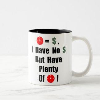 Time är pengar Två-Tonad mugg