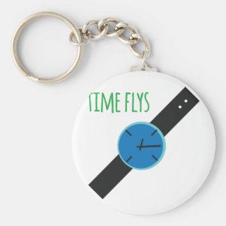 Time Flys Rund Nyckelring