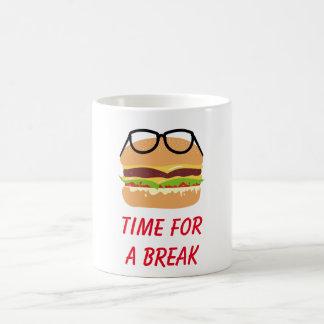 Time för ett avbrott kaffemugg
