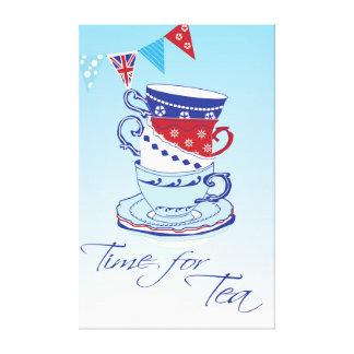 Time för Tea Canvastryck