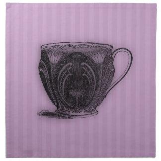 Time för tekopp för Tea #6 Tygservett