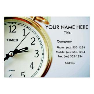 TIME NOG! (Leverans, kurir eller budbärare) ~ Set Av Breda Visitkort