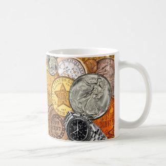 Time och pengar kaffemugg