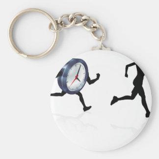 Time pressar det Sress begreppet Rund Nyckelring