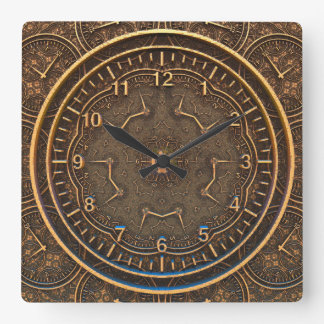 TIME SCRIBE | en forntida stil Fyrkantig Klocka