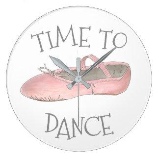 Time som dansar balett, skor studioBallerinalärare Stor Klocka