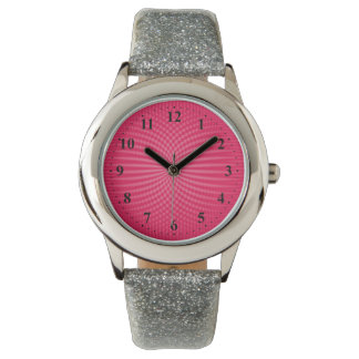 timmar och minuter på rosa bakgrund armbandsur