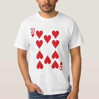 Tio av hjärtor som leker kortet tshirts