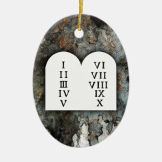 Tio Commandments Julgransprydnad Keramik