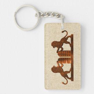 Tio Commandments och lejon Nyckelring