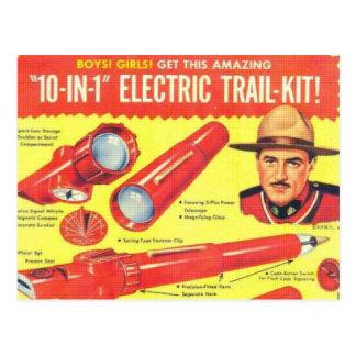 Tio i en elektrisk slingasats vykort
