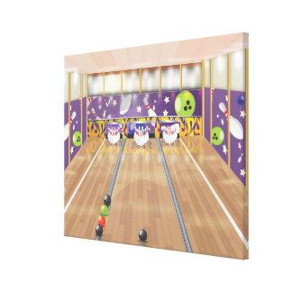 Tio-klämma fast bowlingen canvastryck