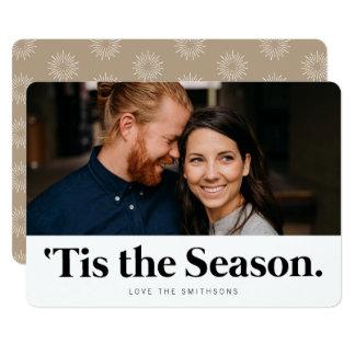 Tis för helgdagfoto för säsong | de moderna korten 12,7 x 17,8 cm inbjudningskort