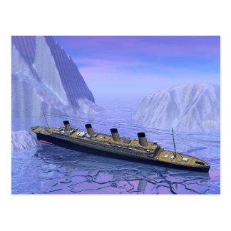 Titanic fartyg som sjunker - 3D framför Vykort
