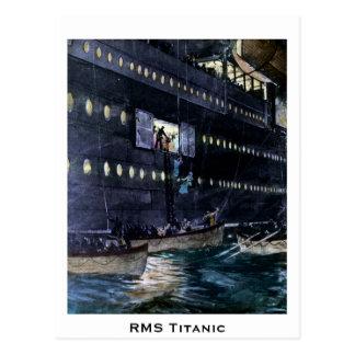Titanic flykt för RMS till lifeboatsna snabbt! Vykort