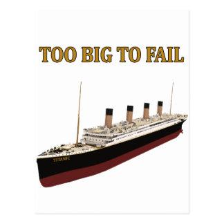 Titanic för stort som misslyckas vykort