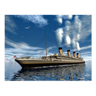 Titanic frakt - 3D render.j Vykort