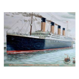 Titanic havsförsök av RMS Vykort