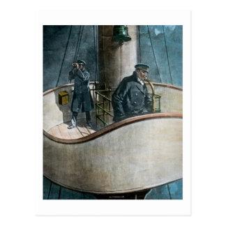 Titanic isberg för RMS framåt! Vintagemagilykta Vykort