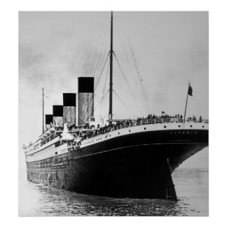 Titanic Outbound för RMS Poster