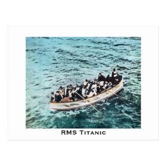 Titanic överlevandear för RMS i Lifeboatsvintage Vykort