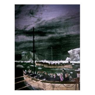 Titanic överlevandear för RMS i Lifeboatsvintagen Vykort