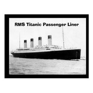 Titanic passagerareeyeliner för RMS Vykort