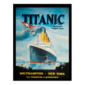 Titanic RMS reser annonsen Vykort