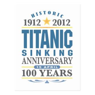 Titanic sjunka 100 år årsdag vykort