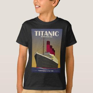 Titanic tryck för haveyelinerart déco tshirts