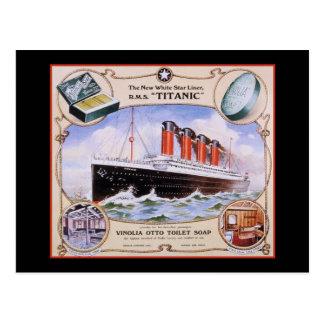 Titanic tvåletikett vykort