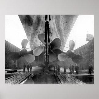 Titanics propellrar poster
