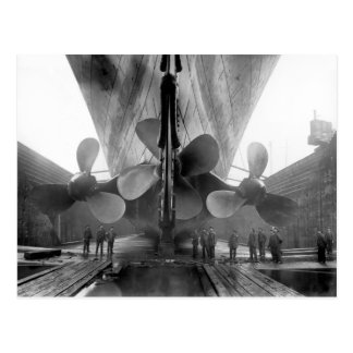 Titanics propellrar vykort