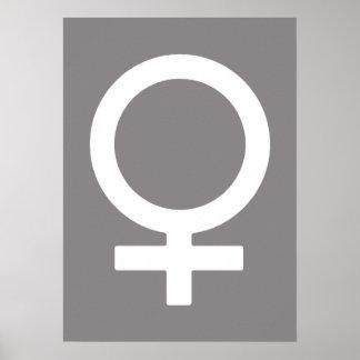 Titanium kvinnligt symbol poster