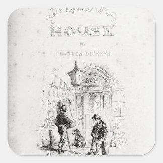 Titelsida av 'bleka House Fyrkantigt Klistermärke
