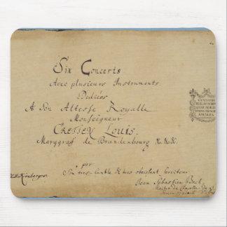 Titelsida av 'de Brandenburg konserterna Musmatta
