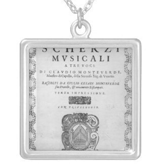 Titelsida av 'scherzina Musicali Silverpläterat Halsband