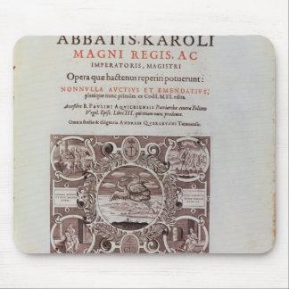 Titelsida från 'Abbatis Karoli Magni Regis Musmatta