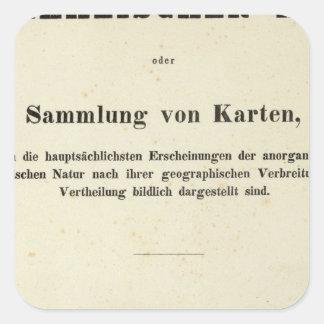 TitelsidaDr Heinrich Berghaus Fyrkantigt Klistermärke