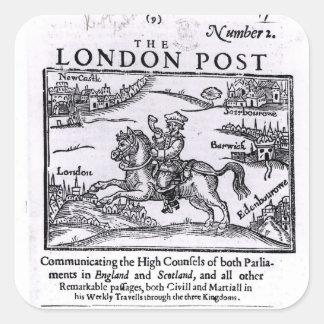 Titlepage av 'de London news'na Fyrkantigt Klistermärke