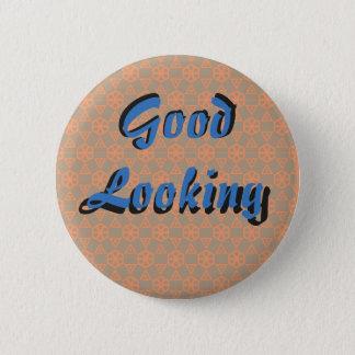 Tittar bra (blått & orangen) standard knapp rund 5.7 cm