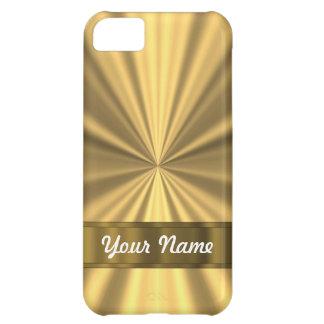 Tittar metalliskt guld iPhone 5C fodral