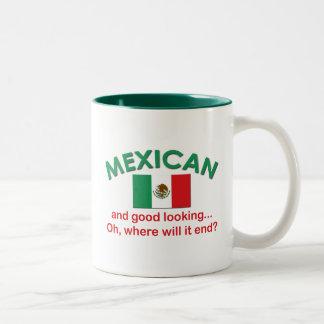 Tittar mexikan och bra Två-Tonad mugg
