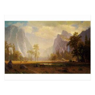 Tittar upp den Yosemite dalen - Albert Bierstadt Vykort