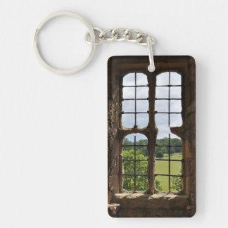 Tittar ut akrylen Keychain Nyckelring