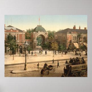 Tivoli parkerar hänrycker Köpenhamnen Danmark Poster