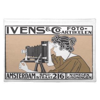 tjänste- affisch för retro foto 1899 bordstablett