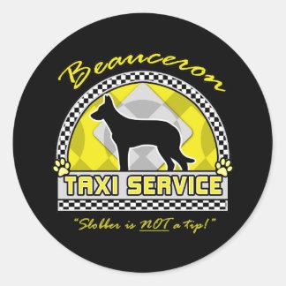Tjänste- Beauceron taxi Runt Klistermärke